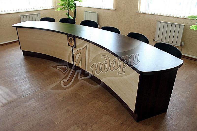 Стол офисный с радиусной столешницей - наборы для персонала,.